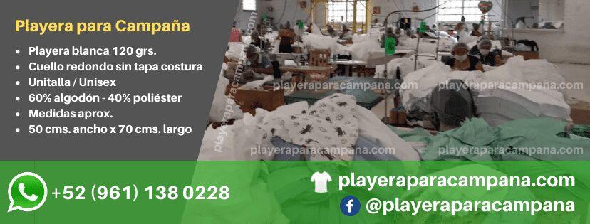 Playera para Campaña en Tlalnepantla
