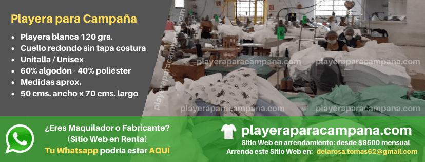 Playera para Campaña en Monclova